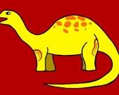 Милые динозавры - Пазл