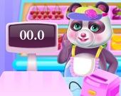 Панда - менеджер в супермаркете