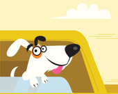 Очаровательные щенки в машине: Три в ряд