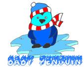 Раскрась пингвиненка
