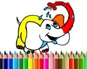 Раскраска: Слон