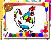 Цыпленок: книжка-раскраска