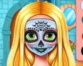 Хэллоуин - раскрась лицо