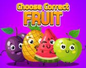 Выберите правильный фрукт