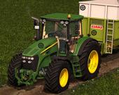 Трактор - спрятанные шины
