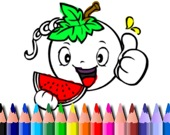 Раскраска: Овощи