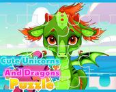 Симпатичные единороги и драконы