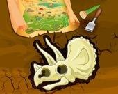 Раскопки: найди скелет динозавра