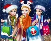 Рождественские покупки в торговом центре