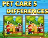 Пять отличий: Уход за домашними животными