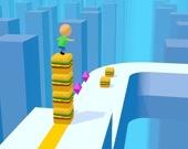 Серф на башне из кубиков