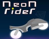 Неоновый велосипедист