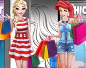 Принцессы в торговом центре