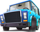 Пазл: Мультипликационные грузовики