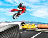 Мотоцикл против поезда