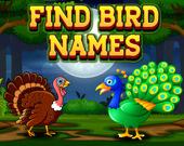 Найди названия птиц
