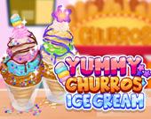 Вкусное мороженое с чуррос