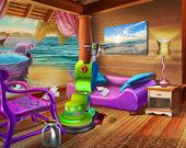 Уборка в домике на пляже