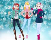 Зимнее развлечение принцесс