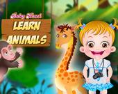 Малышка Хейзел изучает животных