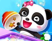 Счастливая уборка малышки панды