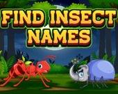 Найди названия насекомых