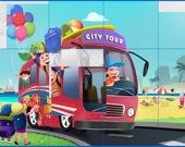Транспорт и дети - Пазл
