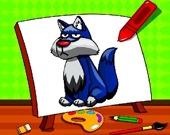 Детская раскраска с волками