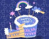 С Днем рождения - Пазл