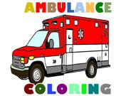 Машины скорой помощи: Раскраски