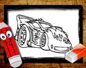 Раскраска: Машины