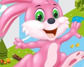 Рождественский кролик спешит к Санте