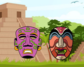 Древние Ацтеки: игра-раскраска