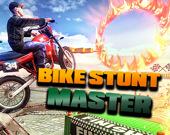 Мастер трюков на мотоцикле