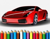 Раскрась гоночные авто