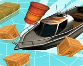 Лодка и обломки