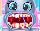 Уход за зубами бегемотика