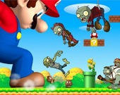 Супер Марио стреляет в зомби