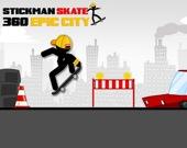 Стикмен на скейтборде: Эпического город