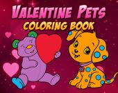 Раскраска:  День святого Валентина с домашними питомцами