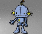 Мультяшный Робот - Пазл