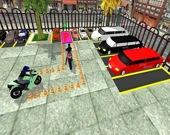 Профессиональная парковка мотоцикла