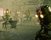 Игра на осведомленность: бар роботов