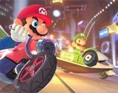 Супер-Марио на мотоцикле