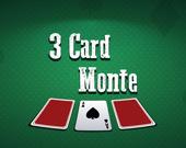 Монте: 3 карты