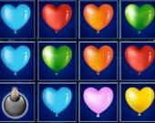 Крушение блоков из шаров в форме сердца