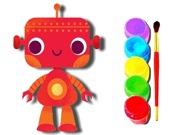 Раскраска: Робот