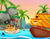 Путешествие пиратов: Раскраска