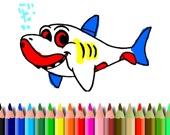 BTS Акула: Раскраска