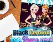 Чёрный образ для обложки Vogue